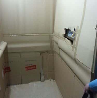protección de un ascensor durante una mudanza